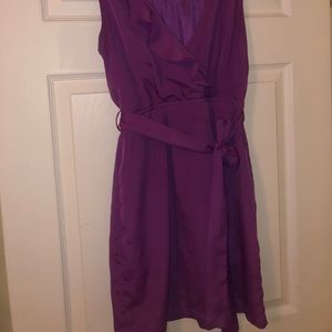 Forever 21 Dresses - F21 purple ruffled dress with pockets